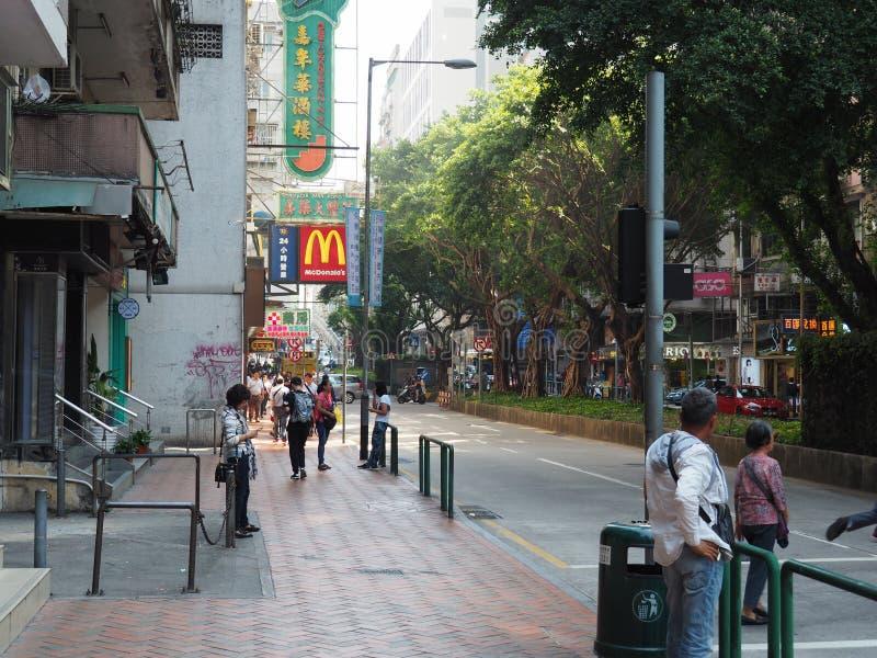 Skylten av en McDonalds i Macao, Kina arkivbilder