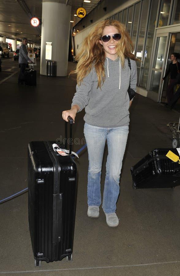 skymning för rachelle för lefevre för aktrisflygplats slapp fotografering för bildbyråer
