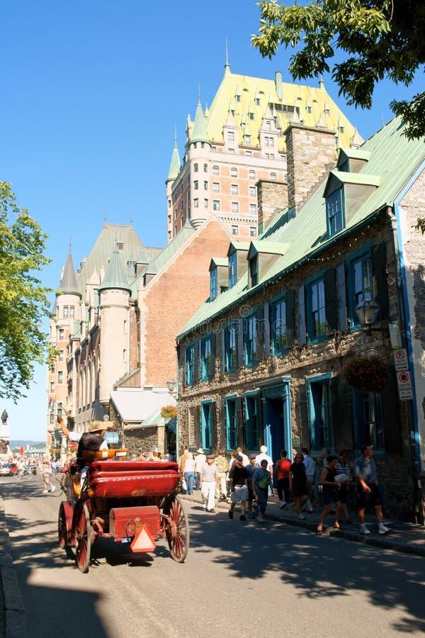 Skymt av Quebec City i Kanada royaltyfri bild