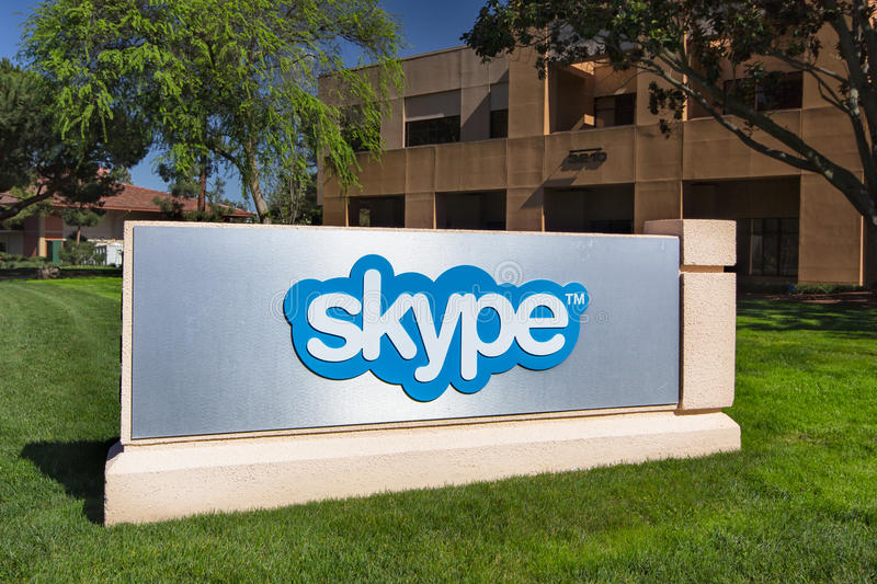 Skype Corporate Building in Silicon Valley royalty free stock photography