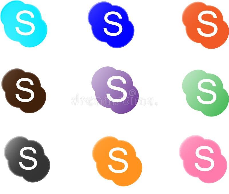 Skype Logo Collection ilustração do vetor