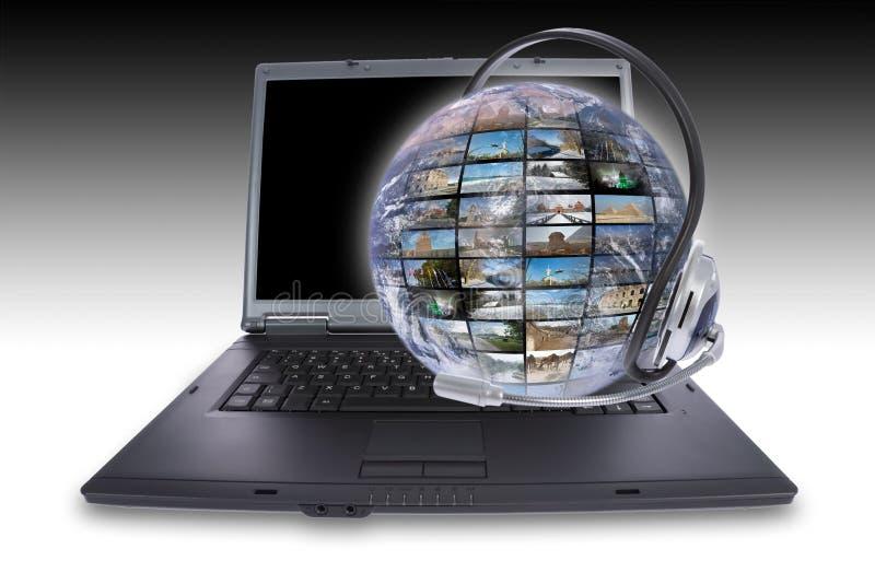 Skype Telefon lizenzfreies stockbild