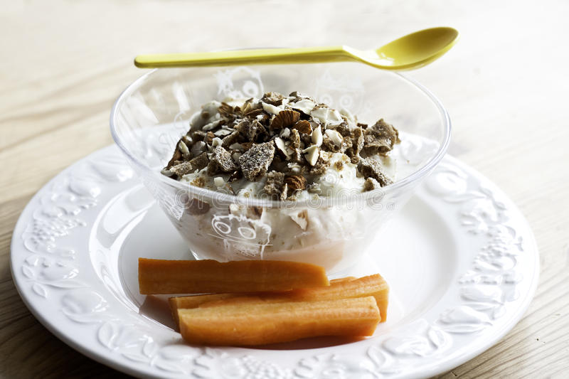 Skyr with Crunch stock image