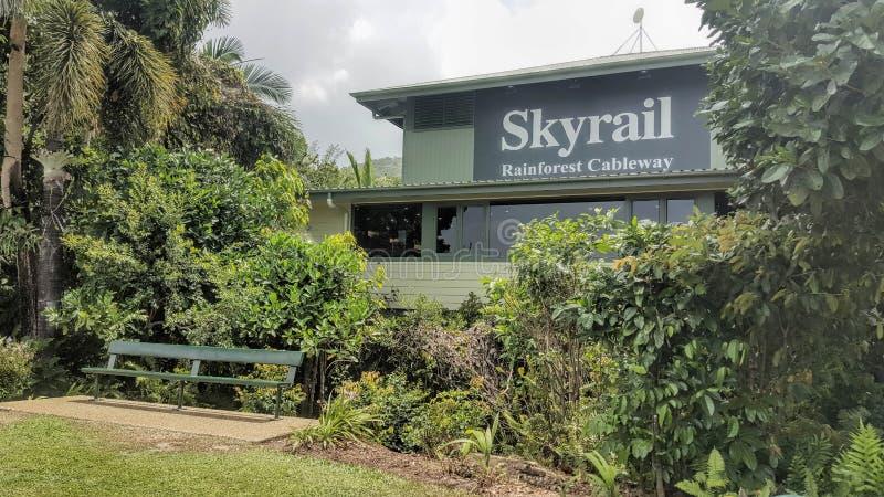 Skyrail石标昆士兰澳大利亚 免版税库存照片