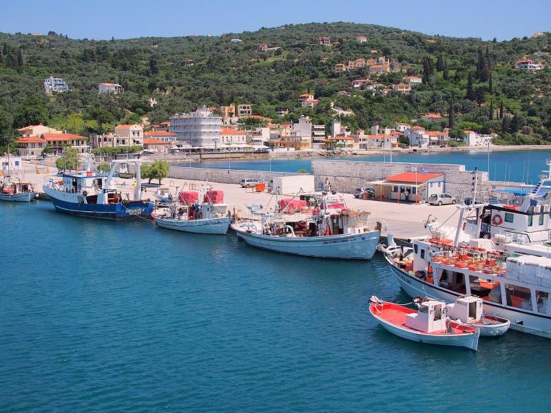 Skyros, ελληνικά αλιευτικά σκάφη νησιών, Ελλάδα στοκ φωτογραφίες με δικαίωμα ελεύθερης χρήσης