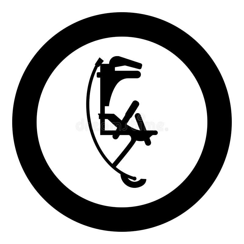 Skyrunner bluza dla wysokiego skoku doskakiwania inicjuje ikony czerni koloru wektorowego ilustracyjnego prostego wizerunek ilustracja wektor
