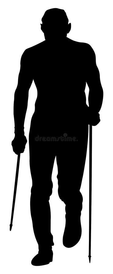Skyrunner masculino do corredor ilustração stock