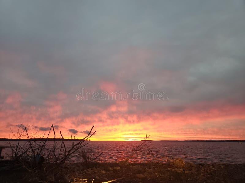 Skys горящее стоковые фото
