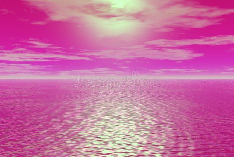 Skys cor-de-rosa ilustração royalty free