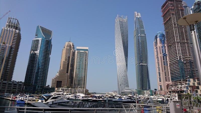 Skyscape迪拜阿联酋小游艇船坞 免版税库存图片