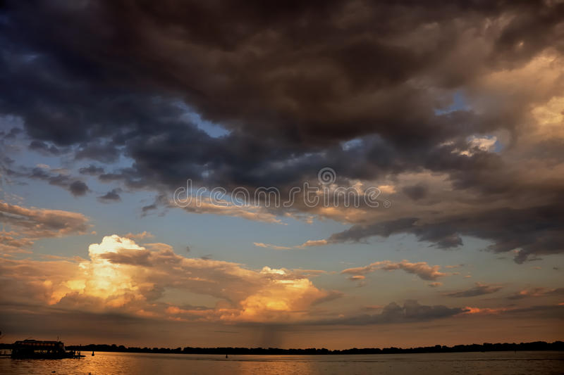 Skyscape. Sunset skyscape over lake Ontario stock images