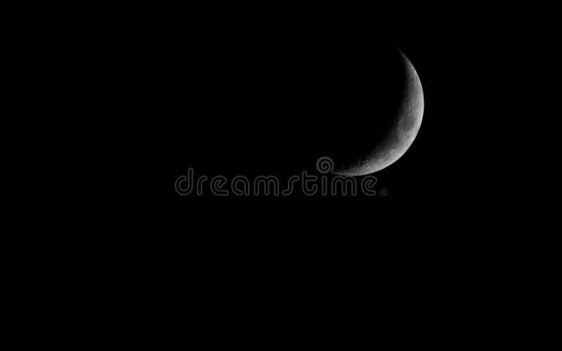 Skyscape Cielo nocturno oscuro con la luna astronomía imagen de archivo libre de regalías