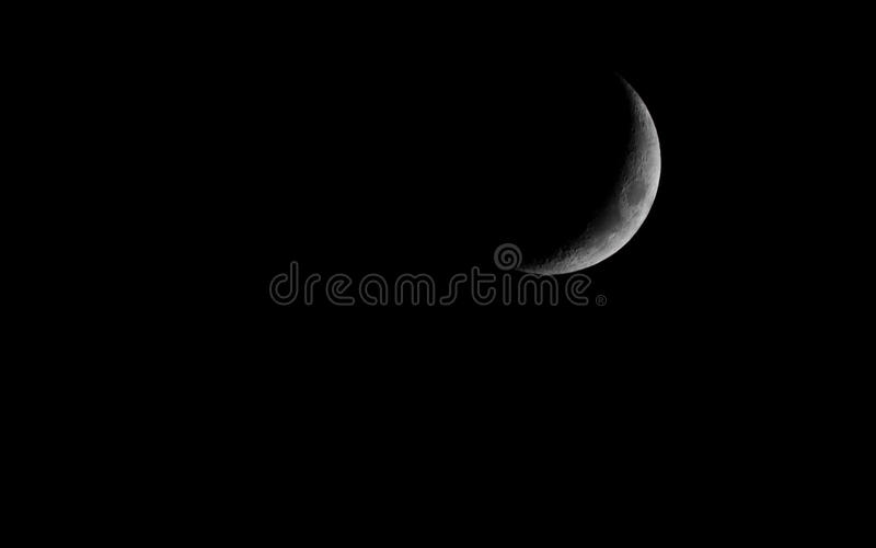 Skyscape. Dark night sky with moon. Astronomy. Skyscape as nature background. Dark night sky with moon. Outdoor. Astronomy science royalty free stock image