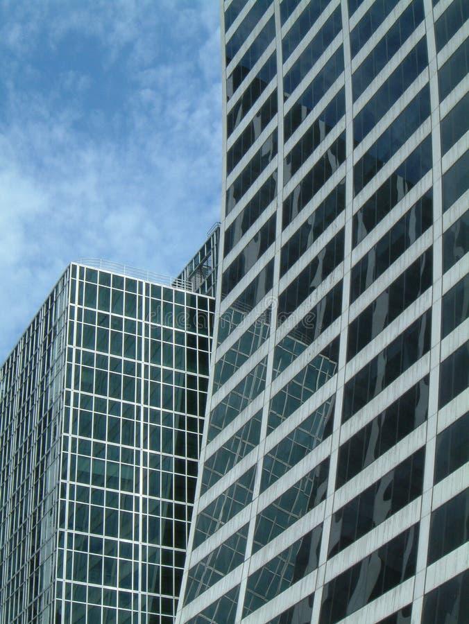 Skyscapers en Manhattan fotos de archivo