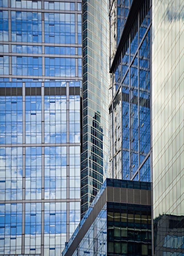 Skyscarpers moderne gebouwen stock foto's