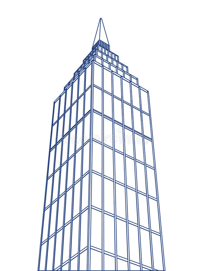 Skyscraper. Outlined of a skyscraper royalty free illustration