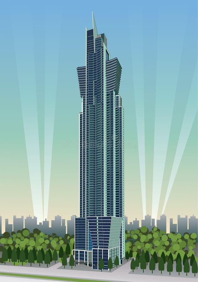 Download Skyscraper stock vector. Image of expensive, urban, business - 13340842