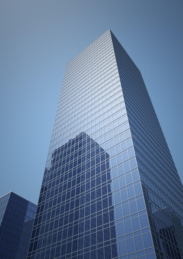 Skyscraper. In the middle of the ci stock illustration