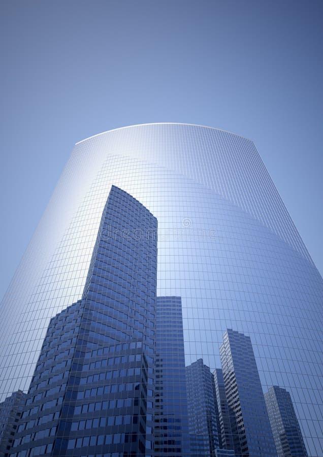 Skyscraper. Detach the city in a skyscraper stock illustration