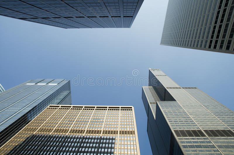 Skyscraper. Condominiums and Office Skyscraper in Metro Chicago royalty free stock photography