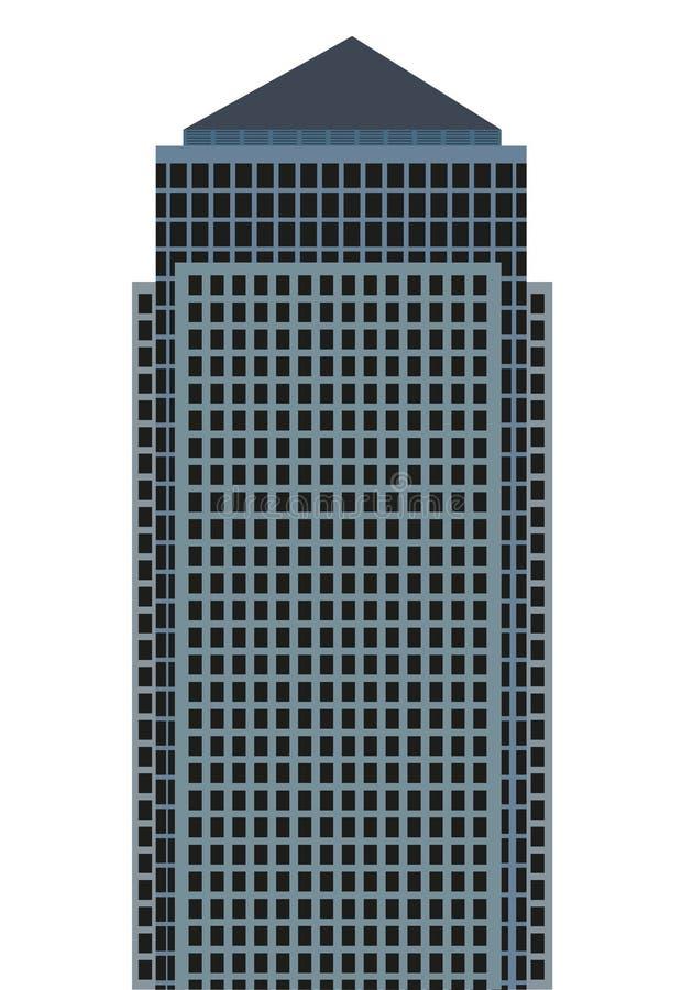 Skyscraper. Vector simple skyscraper on the white background royalty free illustration