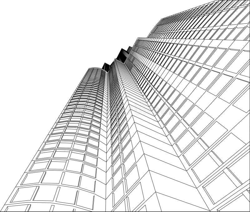 Skyscraper - 4. Modern building (skyscraper) for your business design stock illustration