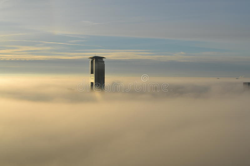 Skyscraper Above Clouds Free Public Domain Cc0 Image