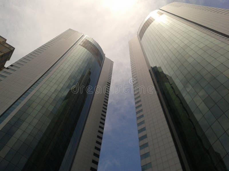 Skyscraper Against Sunny Skies Free Public Domain Cc0 Image