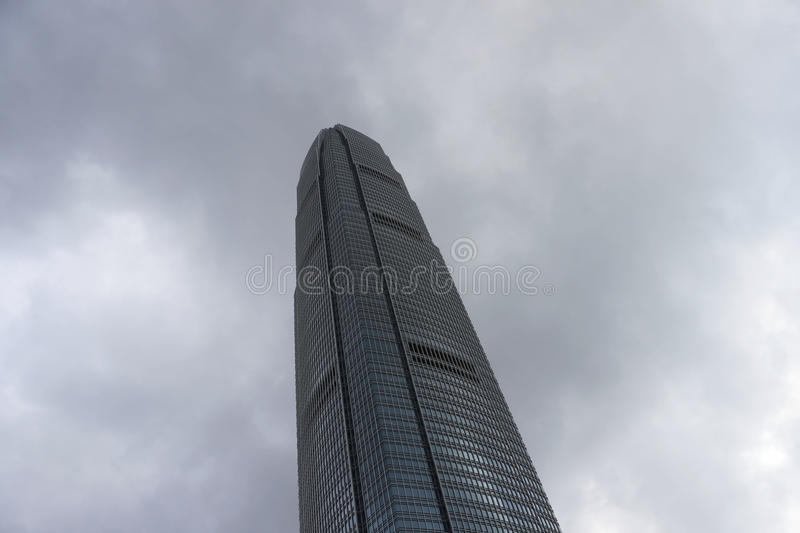 Skyscraper on the background of blue sky Hong Kong, office building, day. City Business District. High-rise buildings royalty free stock images