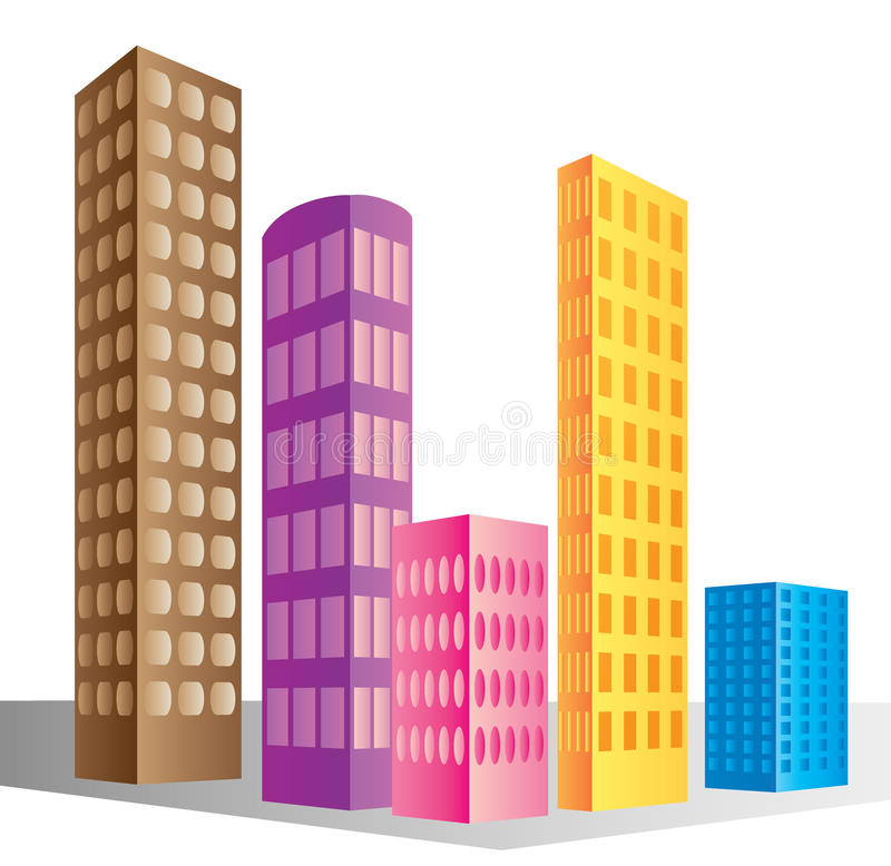 Download Skyscraper buildings stock vector. Image of white, isolated - 19624870