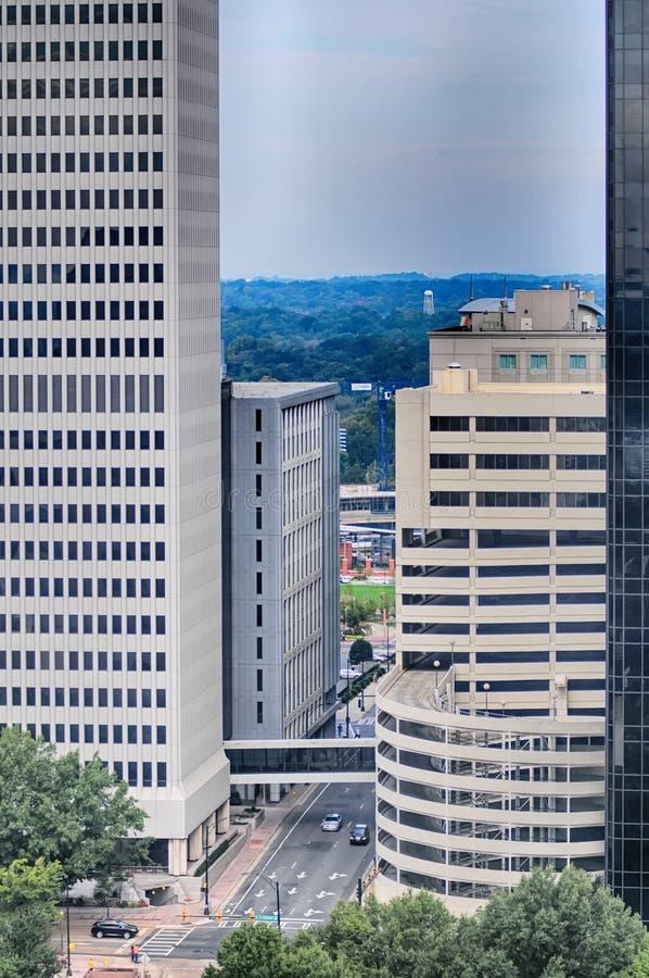 Skyscraper buildings in NC stock image
