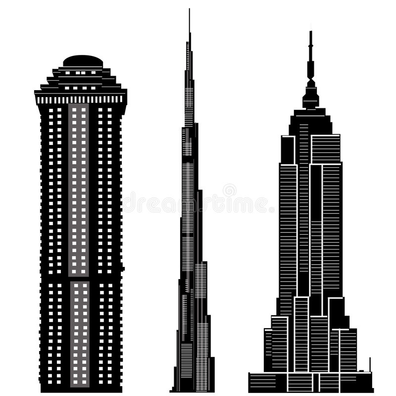 skyscraper buildings vector 2 stock vector illustration of rise rh dreamstime com dubai skyscraper vector skyscraper icon vector