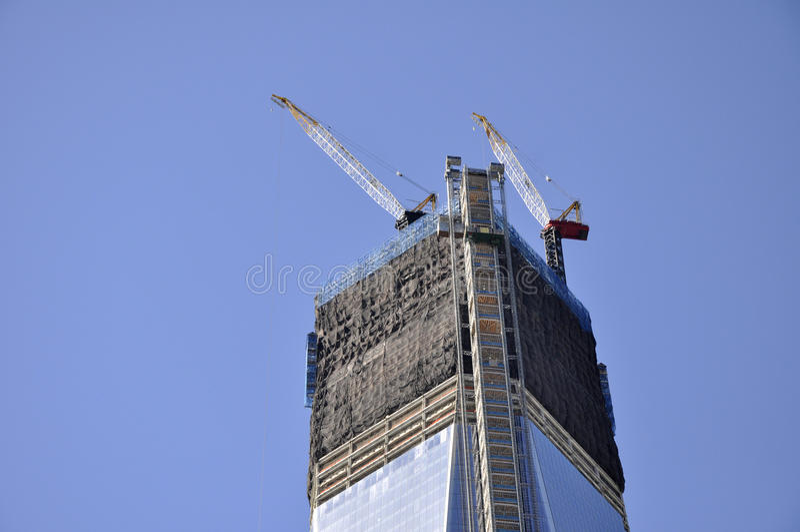 Skyscraper construction royalty free stock photo