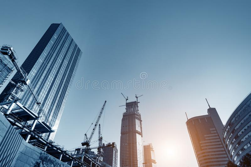 Skyscraper construction site royalty free stock photography