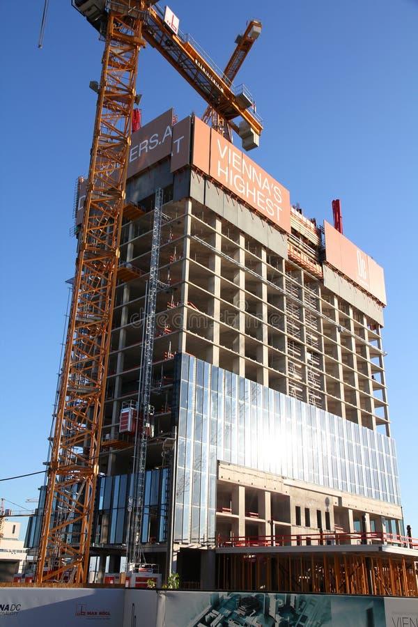 Skyscraper construction in Vienna stock photos