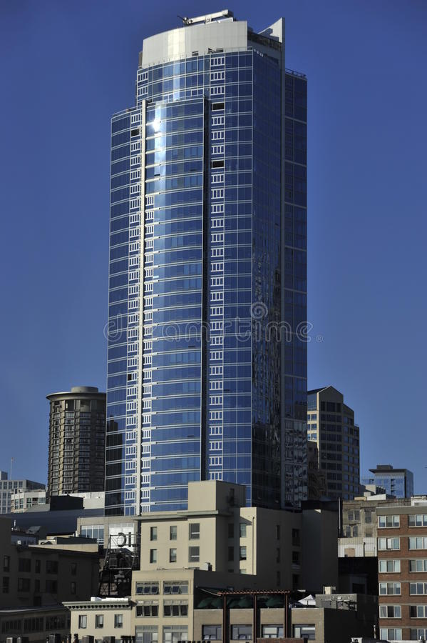 Skyscraper, Downtown Seattle, USA royalty free stock photo