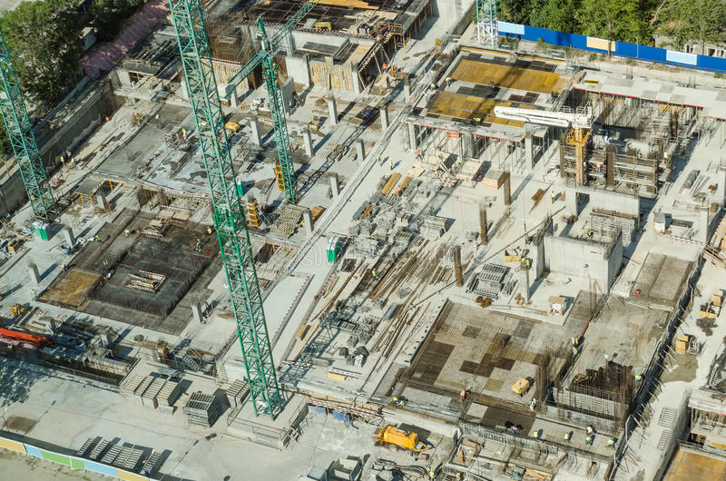 Skyscraper Foundation Construction Site stock images