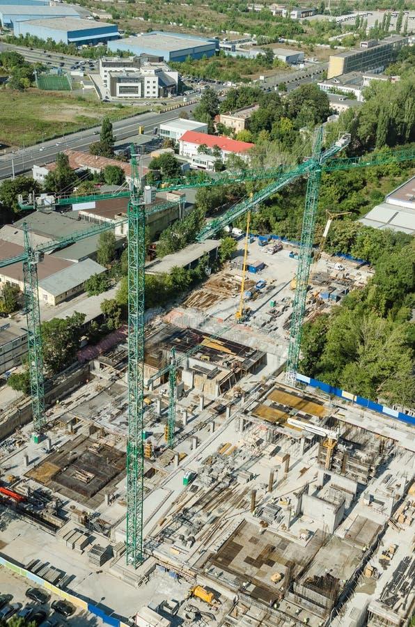 Skyscraper Foundation Construction Site royalty free stock photos