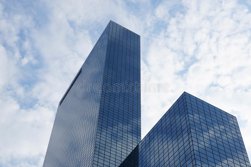 Skyscraper with glass facade royalty free stock images