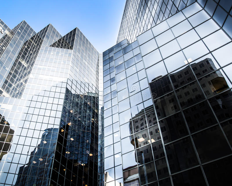 Skyscraper glasse in Montreal, Canada stock image
