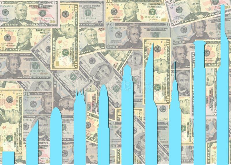 Download Skyscraper Graph On Dollars Stock Illustration - Image: 11099055