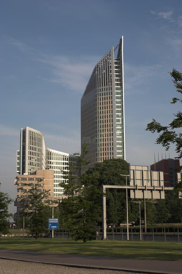 Skyscraper: the Hoftoren in the Hague royalty free stock image