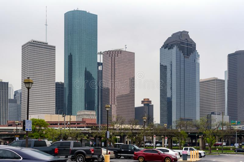 Skyscraper in Houston in the united states of america. Generic Skyscraper Architecture in Houston in the United States of America royalty free stock photography
