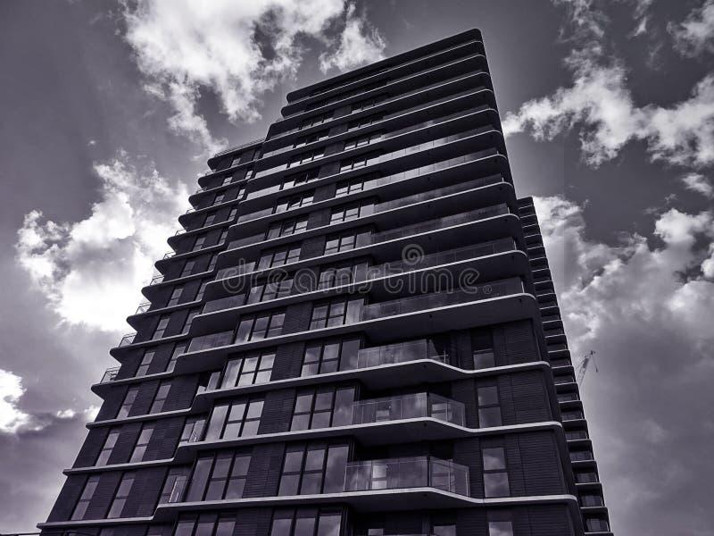 Skyscraper with interesting facade stock photo