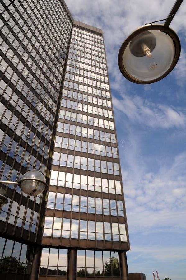 Download Skyscraper with lamppost stock image. Image of block - 28469325