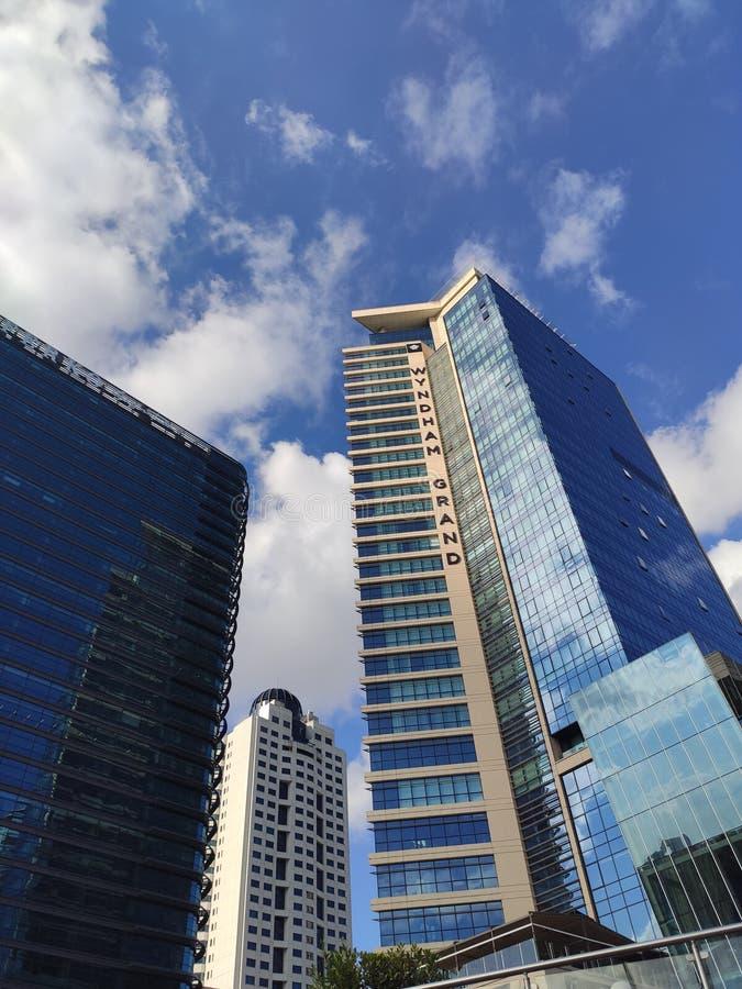 Skyscraper - Levent Ä°stanbul Turkije stock foto