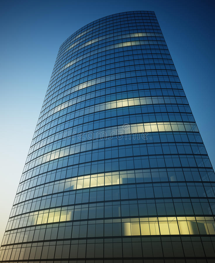Download Skyscraper with lights stock illustration. Image of blue - 18864154