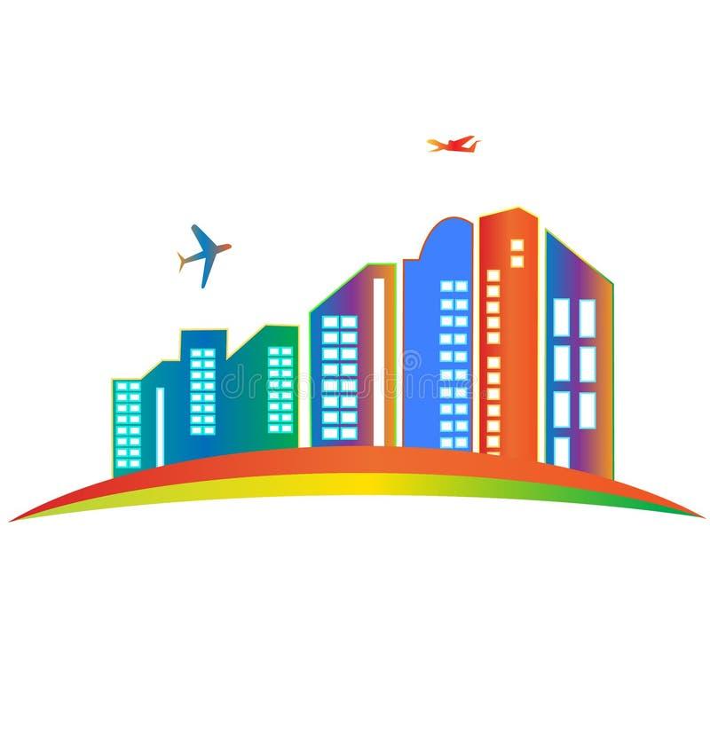 Skyscraper logo royalty free illustration