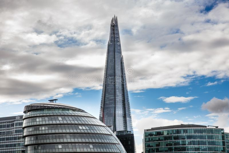 Skyscraper in London, Great Britain. Business, success, financial district, modern stock photography