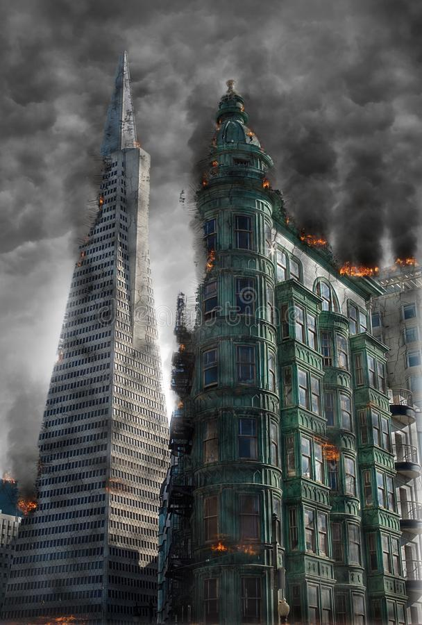 Skyscraper, Metropolitan Area, Metropolis, Building royalty free stock image